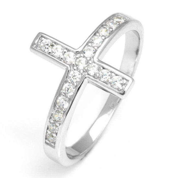 Inel Borealy Argint 925 Cross Solid Marimea 6 0