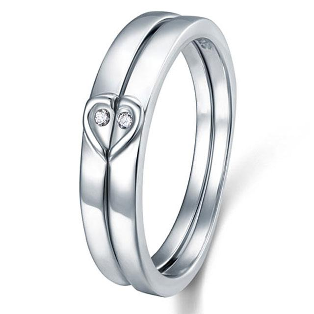 Inel Borealy Argint 925 Doble Heart Marimea 6-big