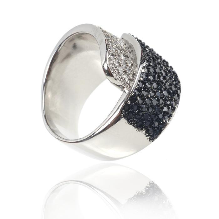 Inel Black Colours Crystal Glow Marimea 6-big