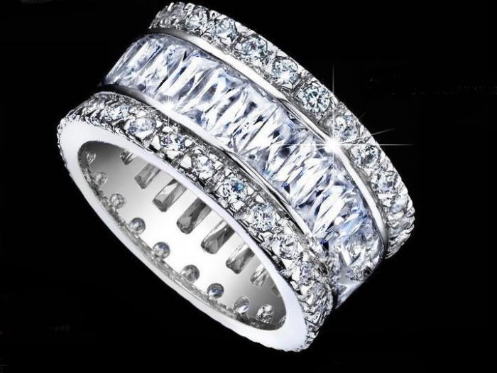 Inel Emerald Eternity Argint 925 3