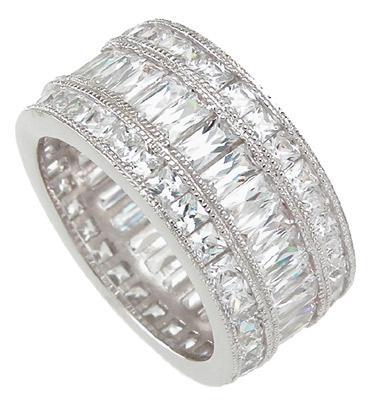 Inel Emerald Eternity Argint 925 0