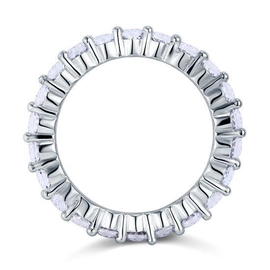 Inel Borealy Argint 925 Eternity Oval Cut Mărimea 8-big