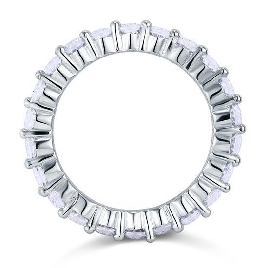 Inel Borealy Argint 925 Eternity Round Cut Mărimea 8-big