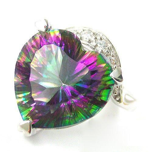 Inel Heart Mistic Topaz 10 carate Argint 925-big