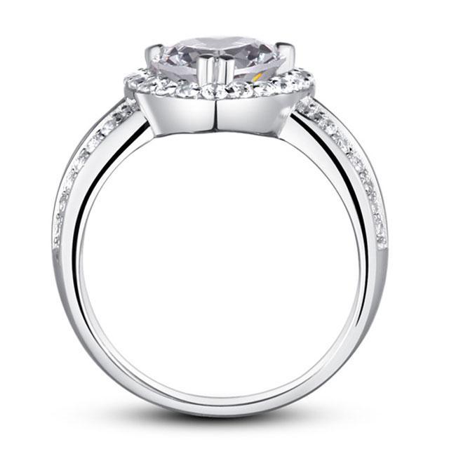 Inel Borealy Argint 925 Simulated Diamond Heart Silver Marimea 6 2