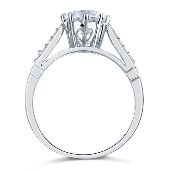 Inel Love Wedding Simulated Diamond Argint 925 Mărimea 6 3