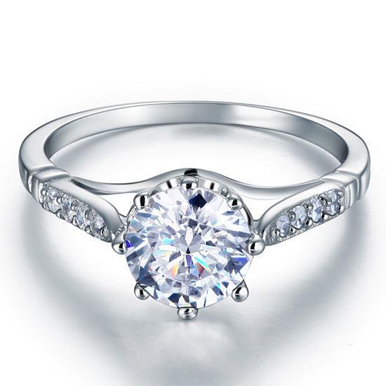 Inel Love Wedding Simulated Diamond Argint 925 Mărimea 6 2