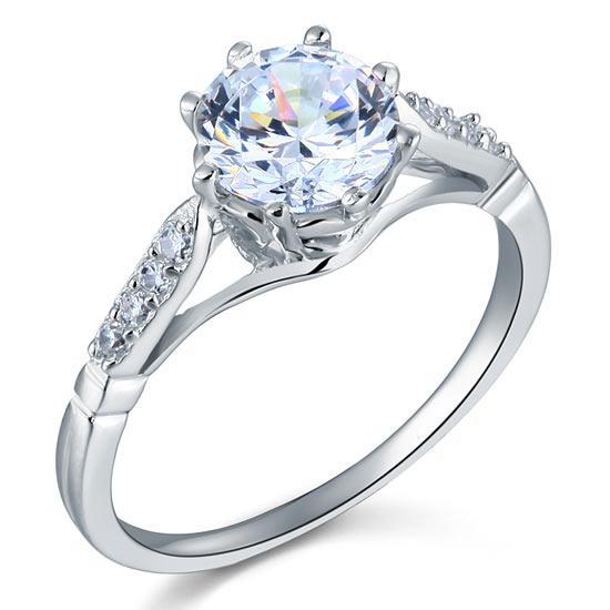 Inel Love Wedding Simulated Diamond Argint 925 Mărimea 6 0