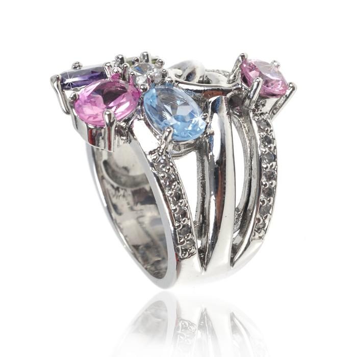 Inel MultiColour Crystal Glow 5