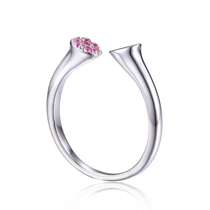 Inel Pink Safir Wrap Stackable ajustabil 2