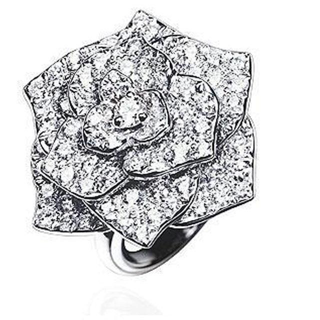 Inel Borealy Titanium Simulated Diamonds Luxury Rosa Marimea 6,5-big