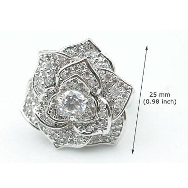 Inel Borealy Titanium Simulated Diamonds Luxury Rosa Marimea 6,5 6