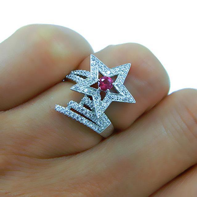 Inel Borealy Argint 925 Rubin Star Marimea 6-big
