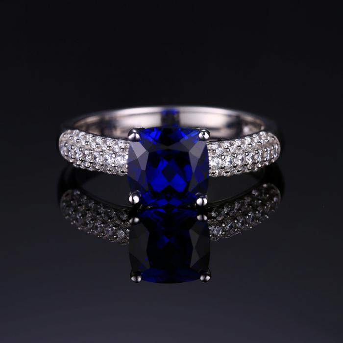 Inel Borealy Safir 2 Carate Argint Princess Marimea 6 3