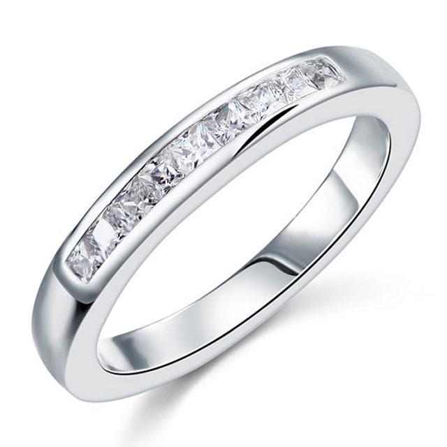 Inel Borealy Argint 925 Semi Eternity White Marimea 6-big