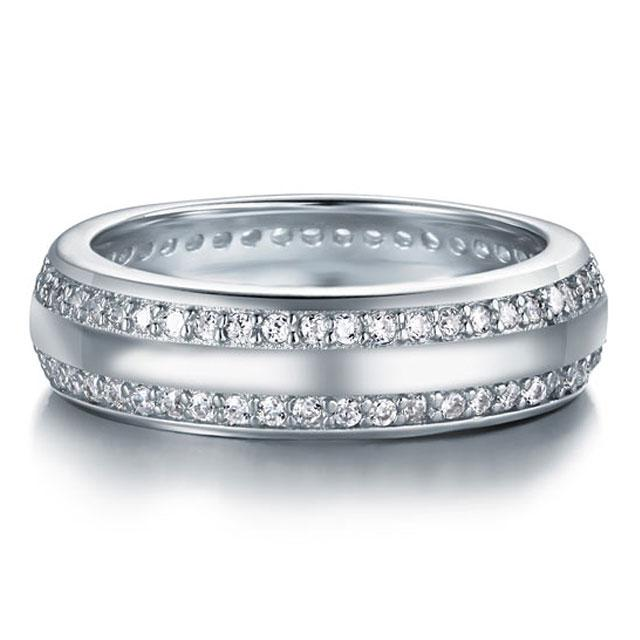 Inel Borealy Argint 925 Created Diamond Verigheta Marimea 8-big