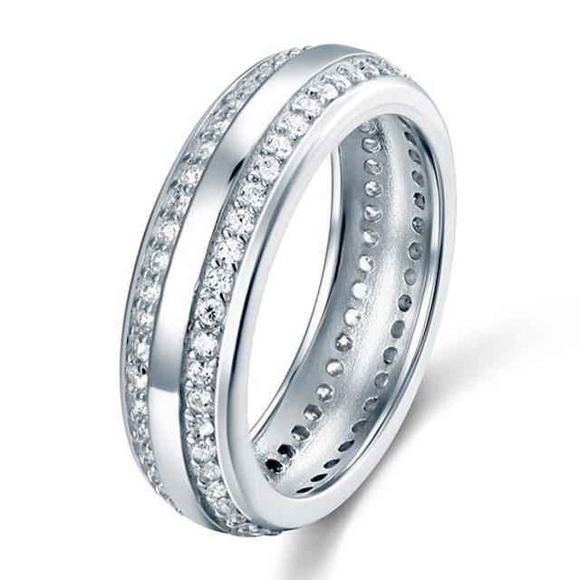 Inel Borealy Argint 925 Created Diamond Verigheta Marimea 7 5