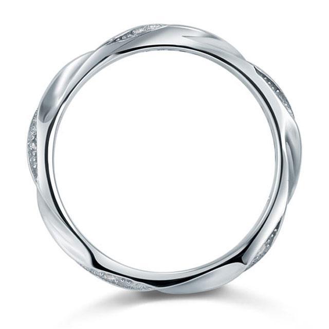 Inel Borealy Argint 925 Created Diamond Unique Marimea 7-big