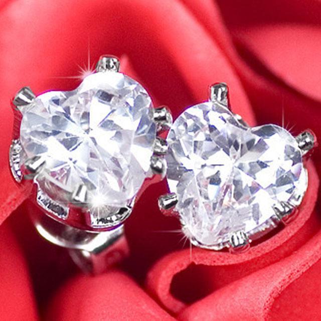 Cercei Borealy Argint 925 Sapphire Heart-big