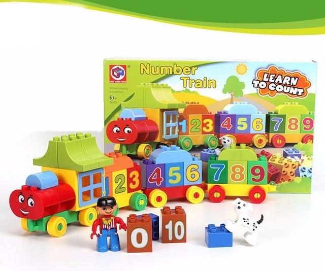 Joc creativ de construit Number Train - Learn to Count [1]