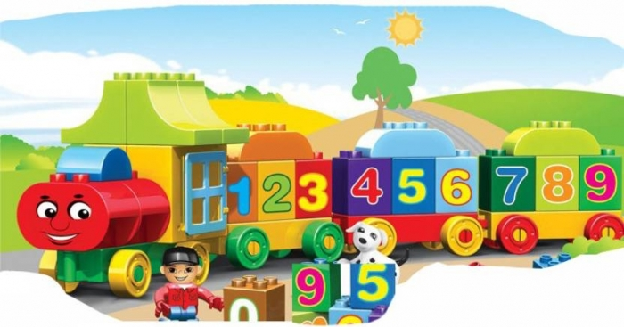 Joc creativ de construit Number Train - Learn to Count [2]