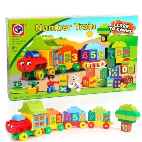 Joc creativ de construit Number Train - Learn to Count [0]