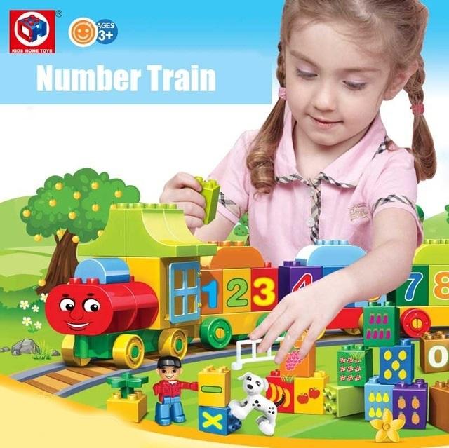 Joc creativ de construit Number Train - Learn to Count [3]