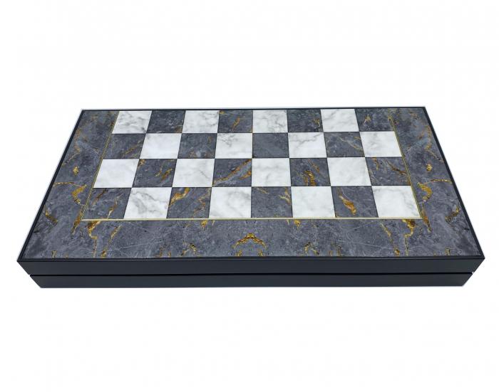 Joc Table si Sah - model Marmura, calitate premium [1]