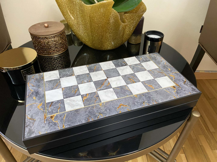 Joc Table si Sah - model Marmura, calitate premium [2]