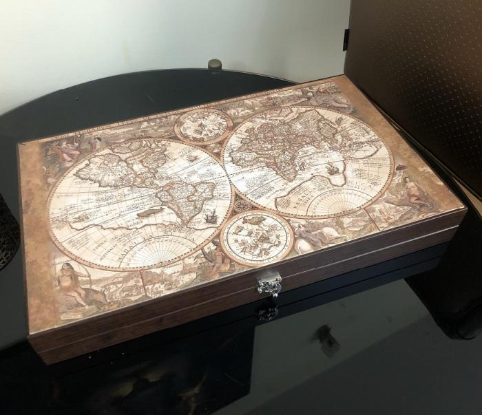 Joc Table - Old Map Edition Leather, calitate premium [1]