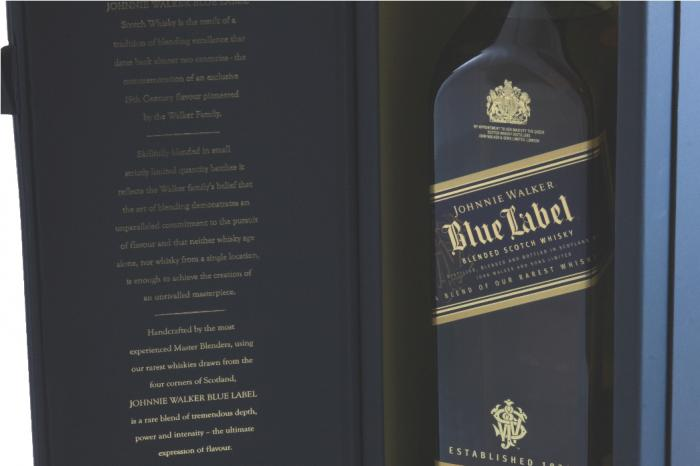 Johnnie Walker Blue Label & Butoni World Map Silver & Blue 5
