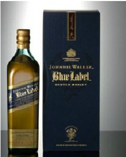 Johnnie Walker Blue Label & Butoni World Map Silver & Blue 2