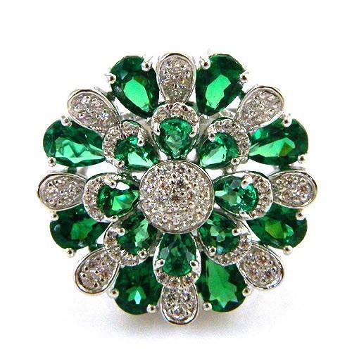 Inel Emerald Luxury by Borealy Argint 925-big
