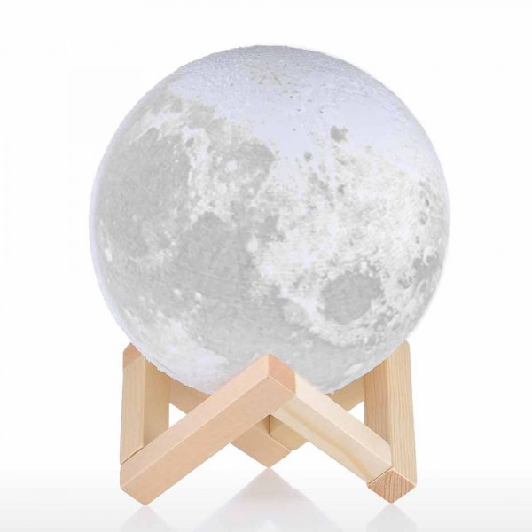 """Lampa Luna 3D Moon by Borealy, 46 cm/64 cm circumferinta (XL) & Placuta """"I love you to the moon and back"""" 4"""