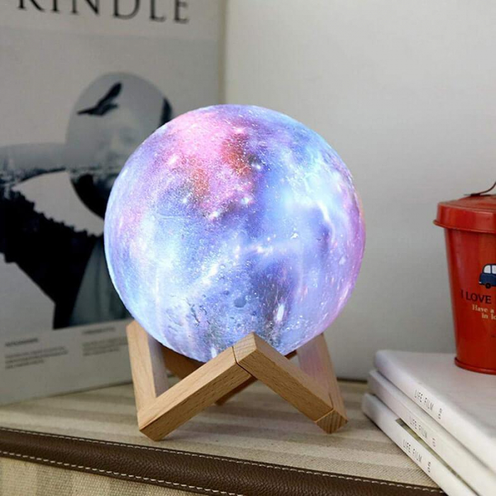Lampa 3D Multicolor Moon by Borealy for Desk,  46 cm circumferinta (XL) 3