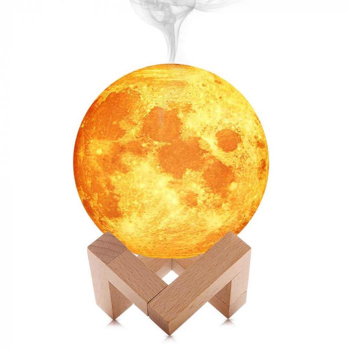Lampa 3D Moon cu Umidificator 13 cm 2