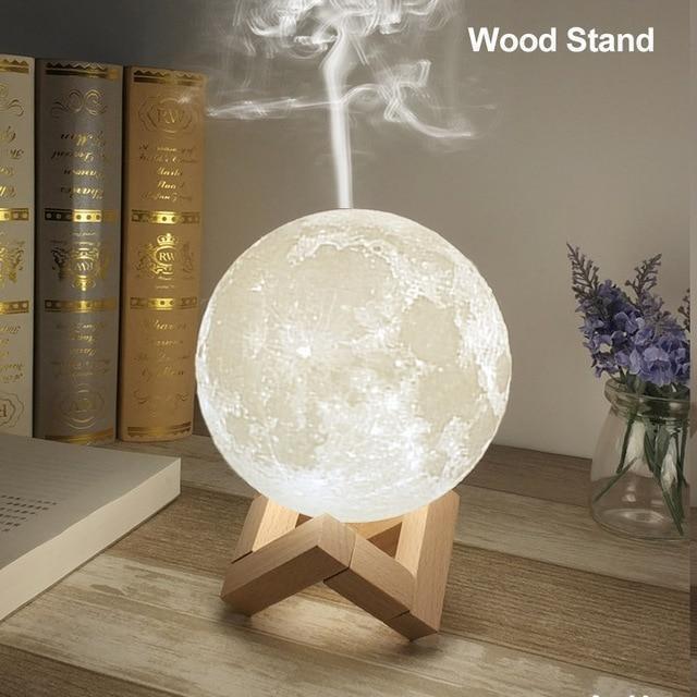 Lampa 3D Moon cu Umidificator - PERSONALIZARE GRATUITA CU PLACUTA 2