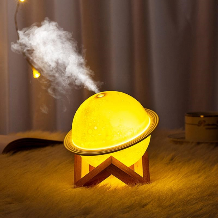 Lampa 3D Saturn cu Umidificator 1