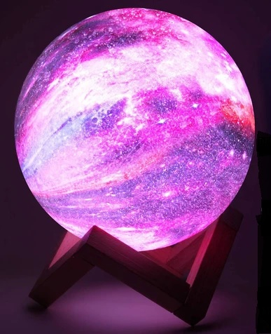 Lampa 3D Multicolor Moon by Borealy for Desk,  46 cm circumferinta (XL) 1