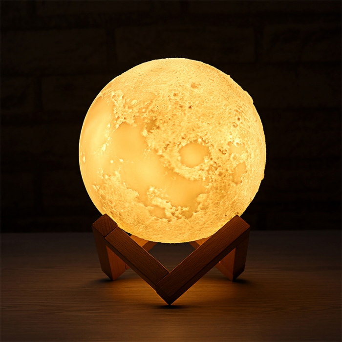 "Lampa Luna 3D Moon, 46 cm circumferinta, & placuta ""I Love You to the Moon and Back"" 3"