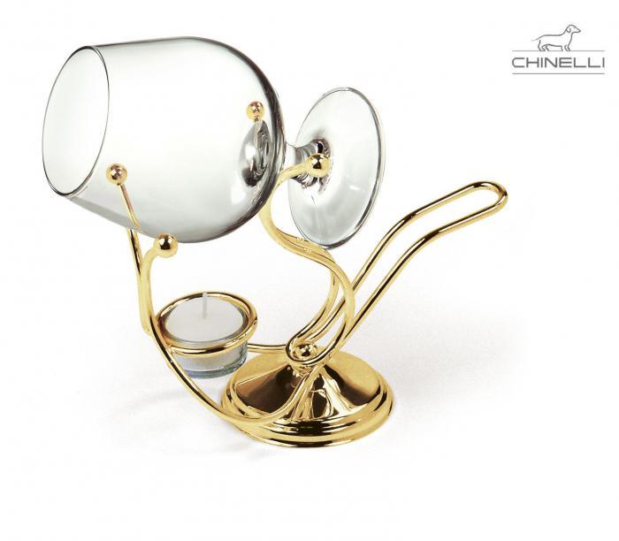 Încălzitor de cognac placat cu aur by Chinelli - Made in Italy 0