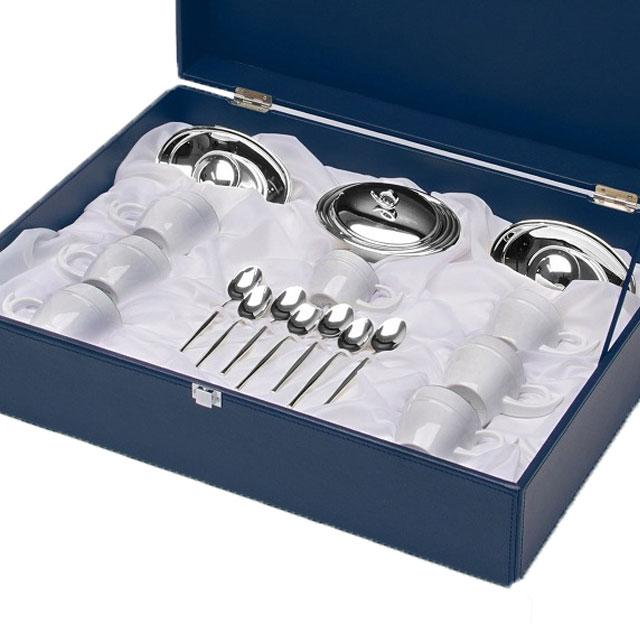 Luxury Silver Coffee Set For Six by Chinelli - Made in Italy-big