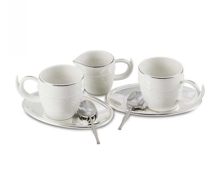 Luxury Coffee Set for 2 by Chinelli - Made in Italy-big