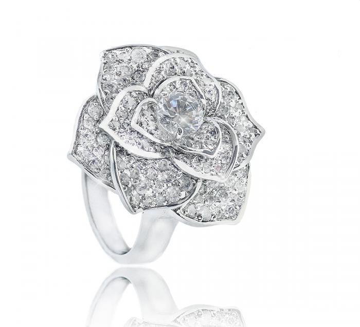 Luxury Rosa Set Cercei Borealy Colier Si Inel 3