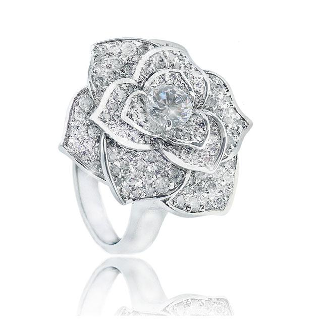 Inel Borealy Titanium Simulated Diamonds Luxury Rosa Marimea 6,5 3