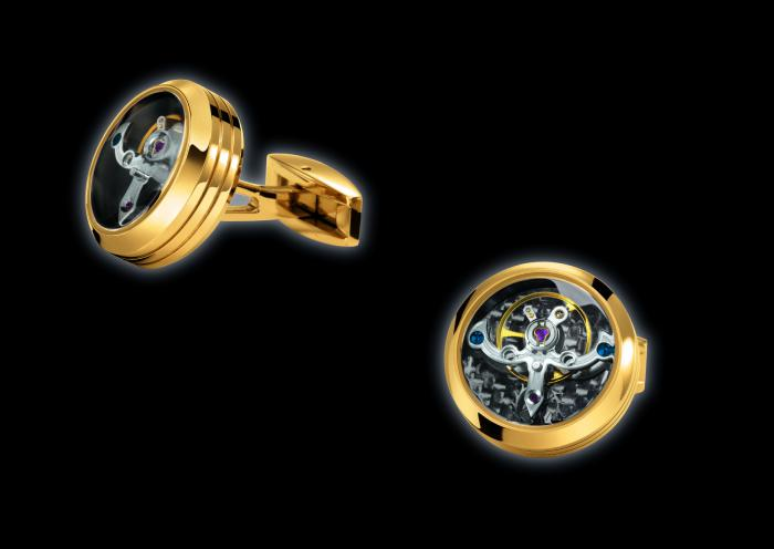 Butoni TF Est. 1968 Tourbillon Luxury - Placaţi cu Aur Galben - Made in Switzerland 2