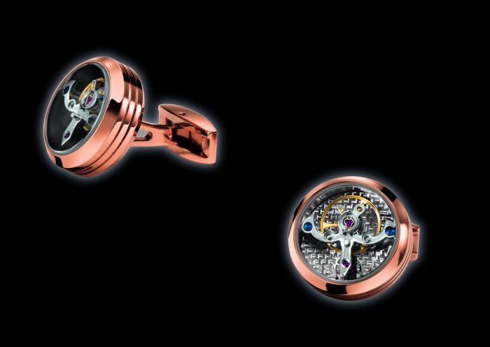 Butoni TF Est. 1968 Tourbillon Luxury - Placaţi cu aur roz - Made in Switzerland 3