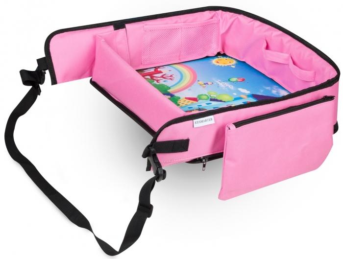 Masuta Calatorie / Tavita ROZ de copii pentru masina si carut KIDSMARTER. Perfecta pentru joaca, mancare, desen, cand sunteti pe drum [0]