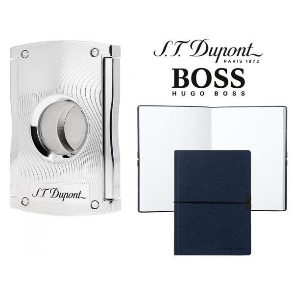 Set Maxijet Cigar Cutter S.T. Dupont si Note Pad Blue Hugo Boss 0