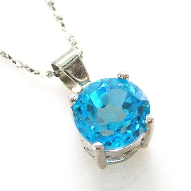 Medalion Topaz Natural Blue Stud 2,25 carate 1